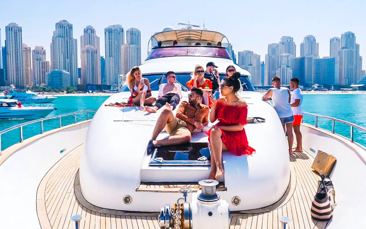 luxury yacht guided tour with food - dubai marina-1