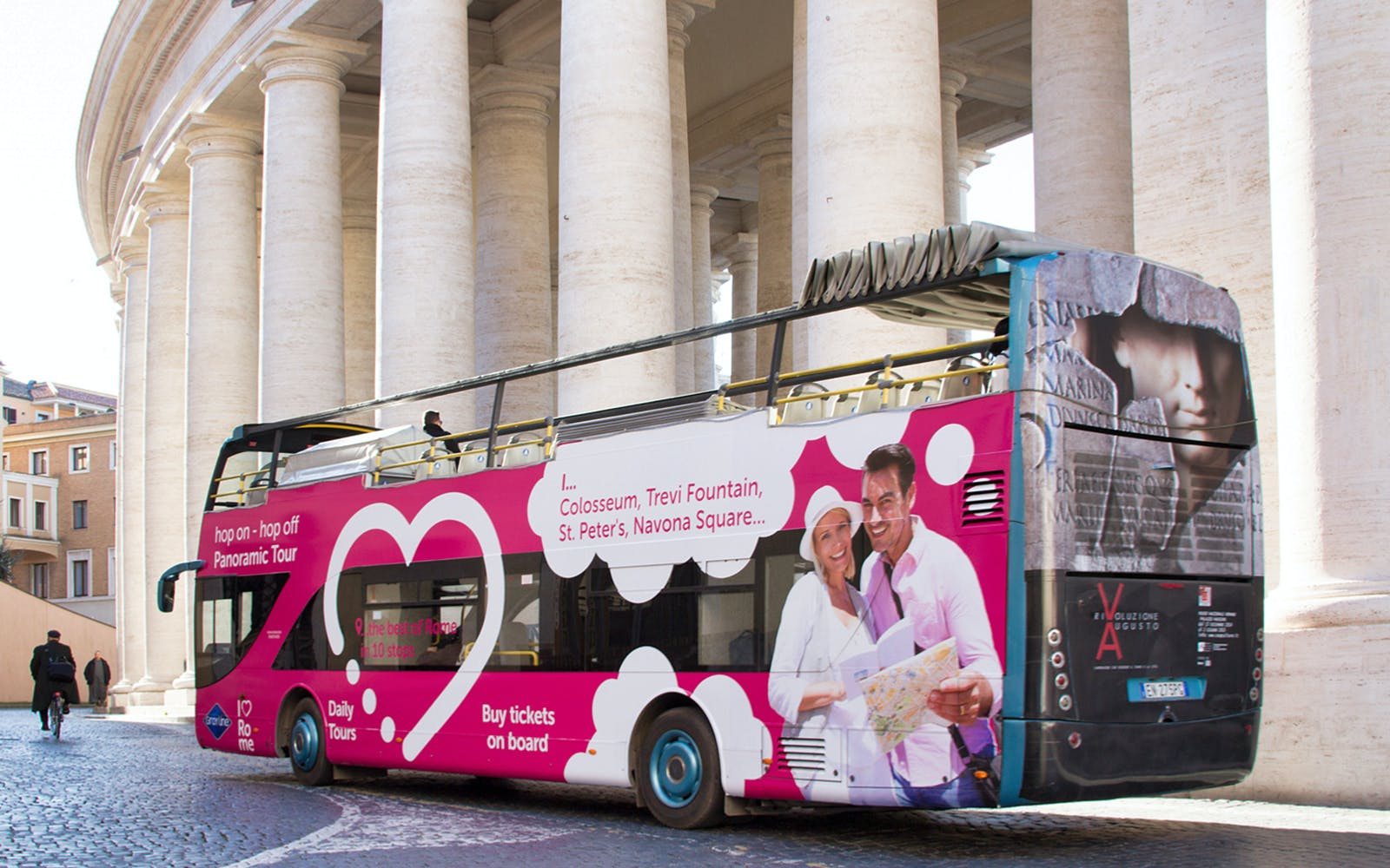 i love rome: 24 hour - hop on hop off bus tour with audio guide-1