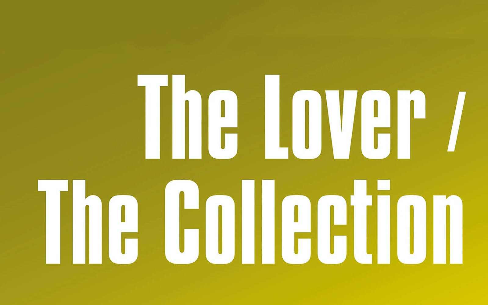 the lover/the collection-1
