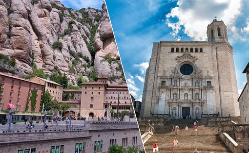 Girona + Montserrat with Cog-Wheel Train from Barcelona