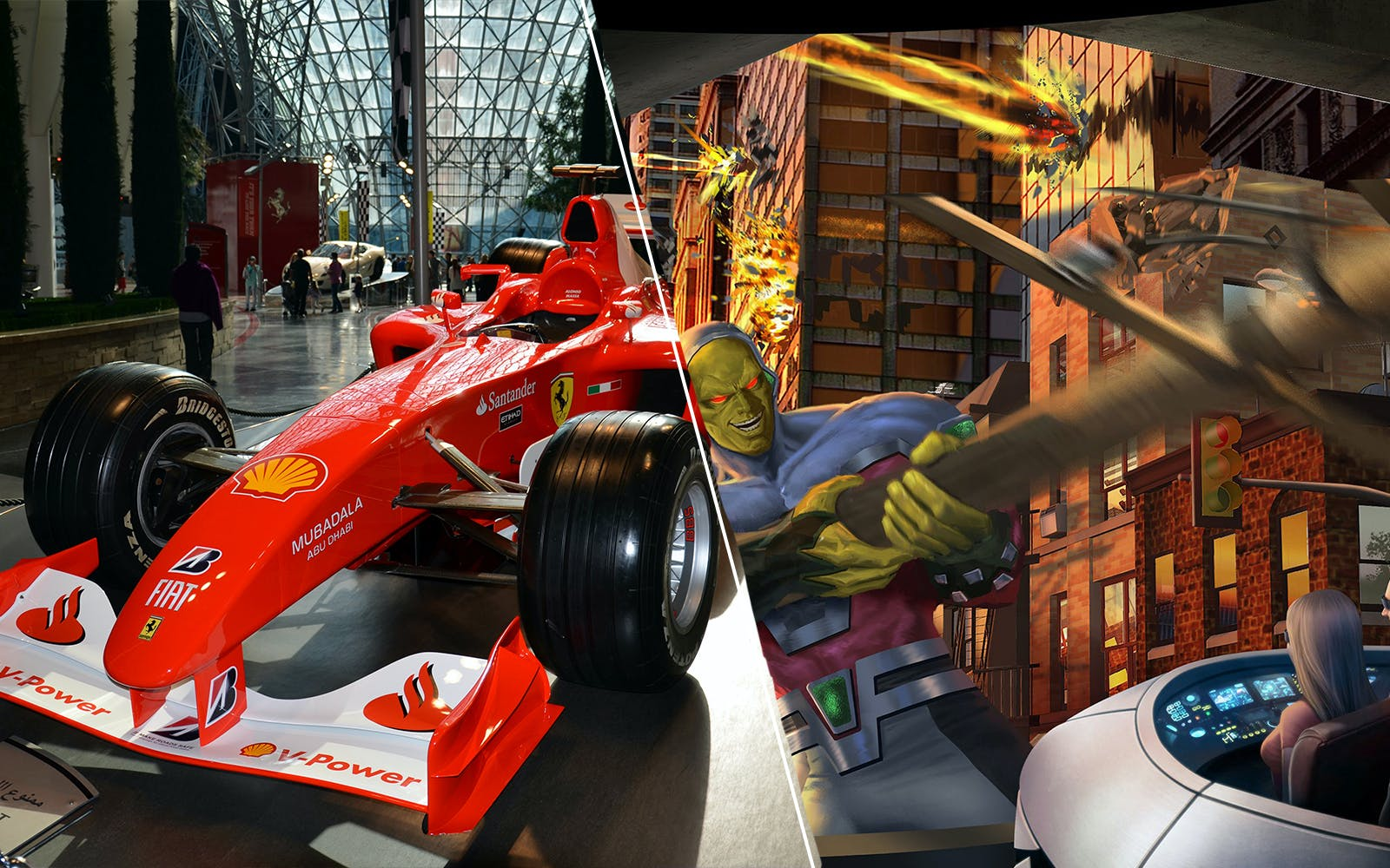 Warner Bros. World and Ferrari World