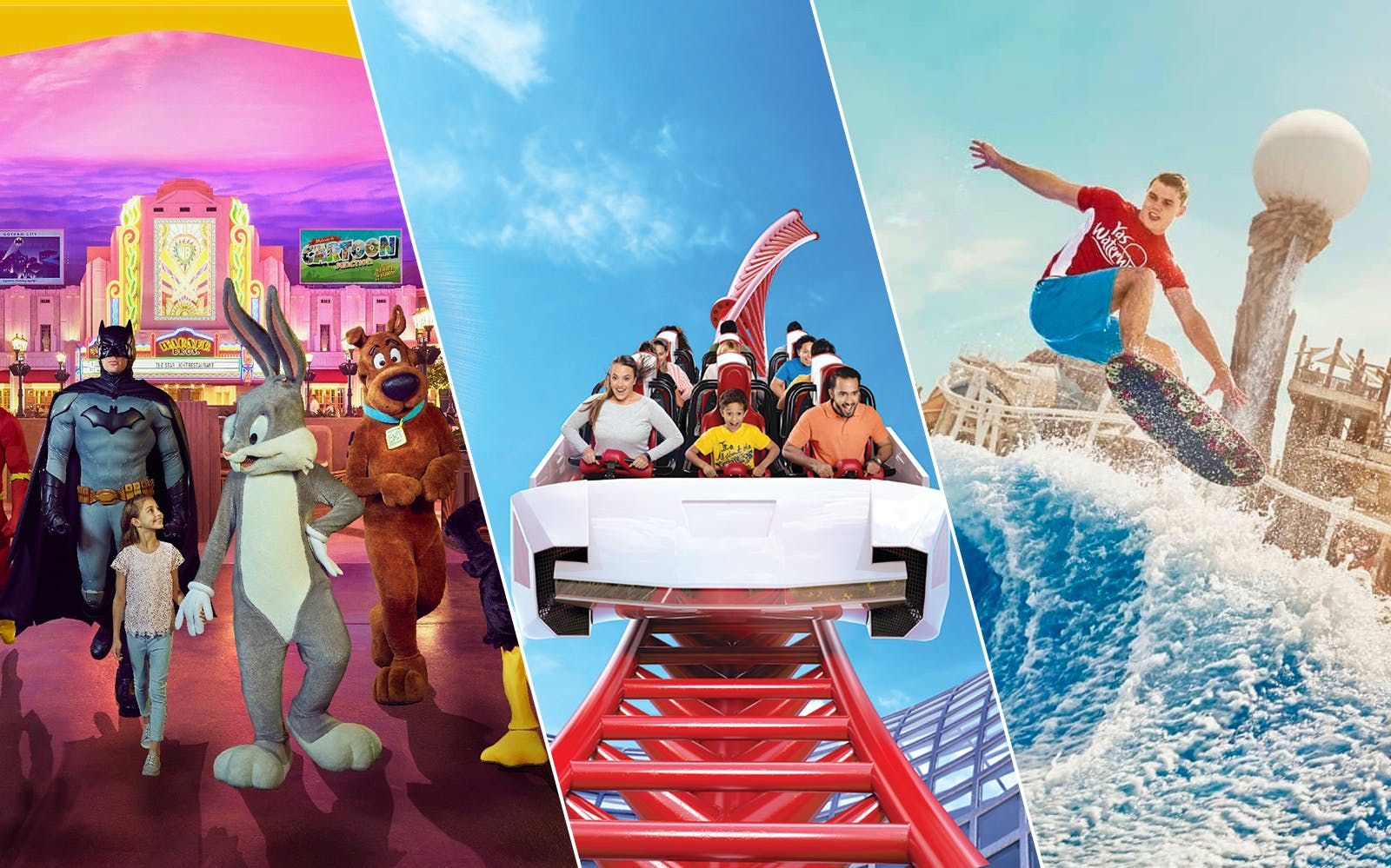 3 in 1 Ramadan Offer: Ferrari World, Warner Bros. World and Yas Waterworld
