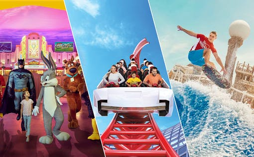 Ferrari World, Warner Bros. World and Yas Waterworld