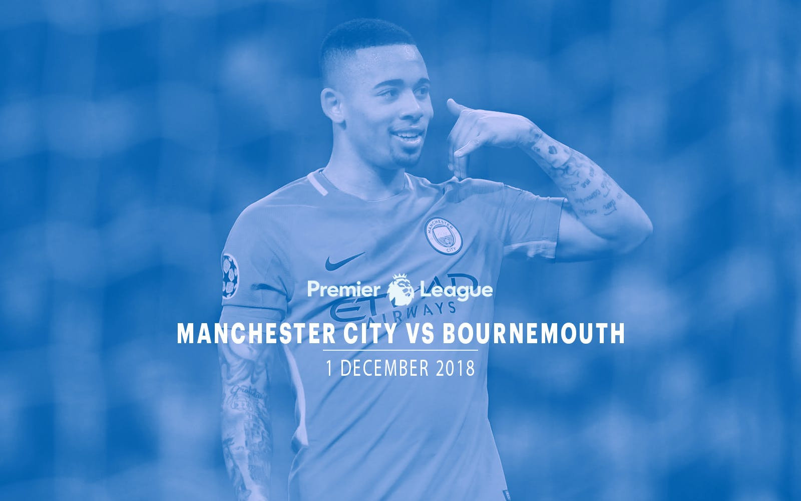 Manchester City vs Bournemouth - 1st Dec'18