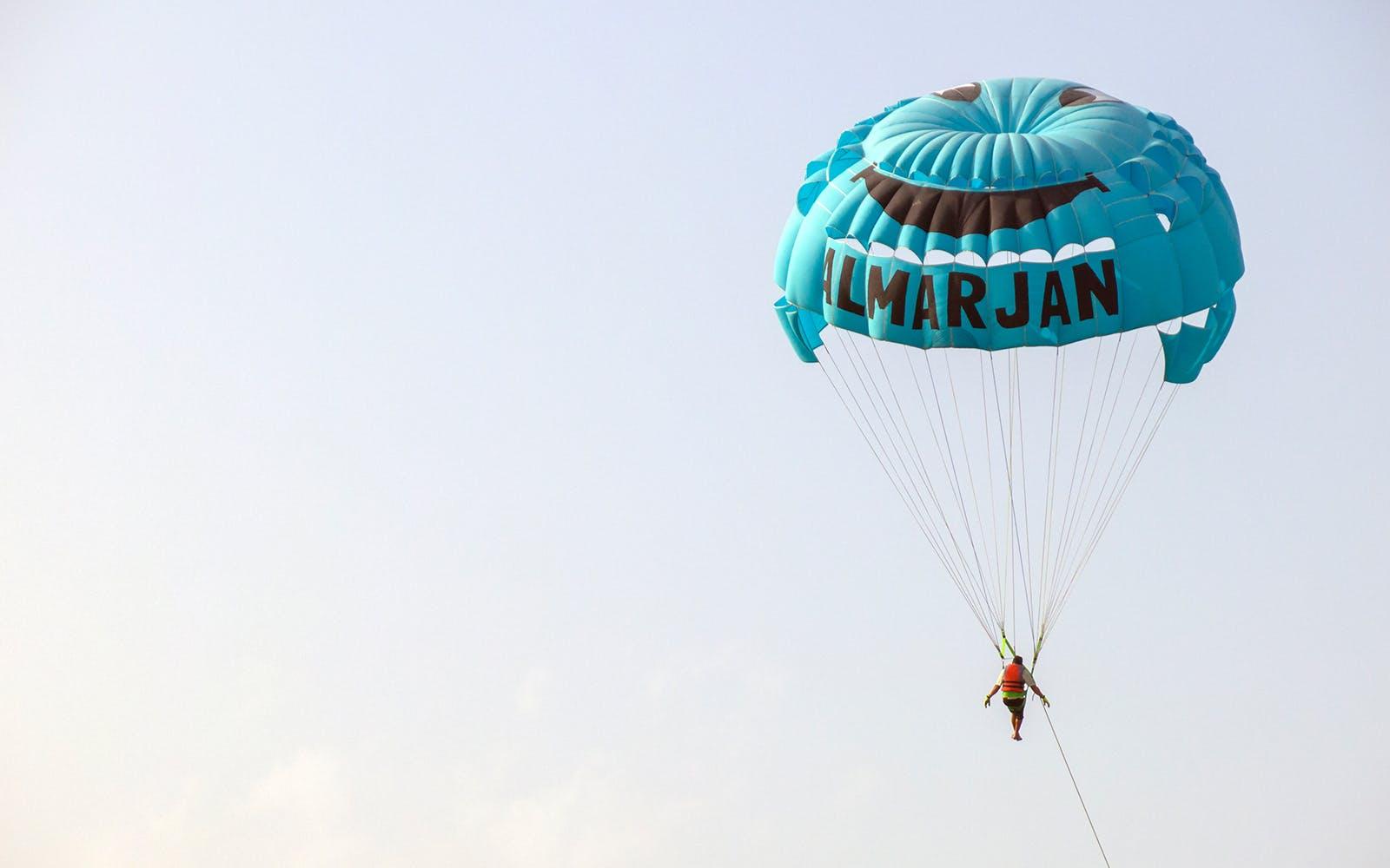 Water sports in Dubai - parasailing