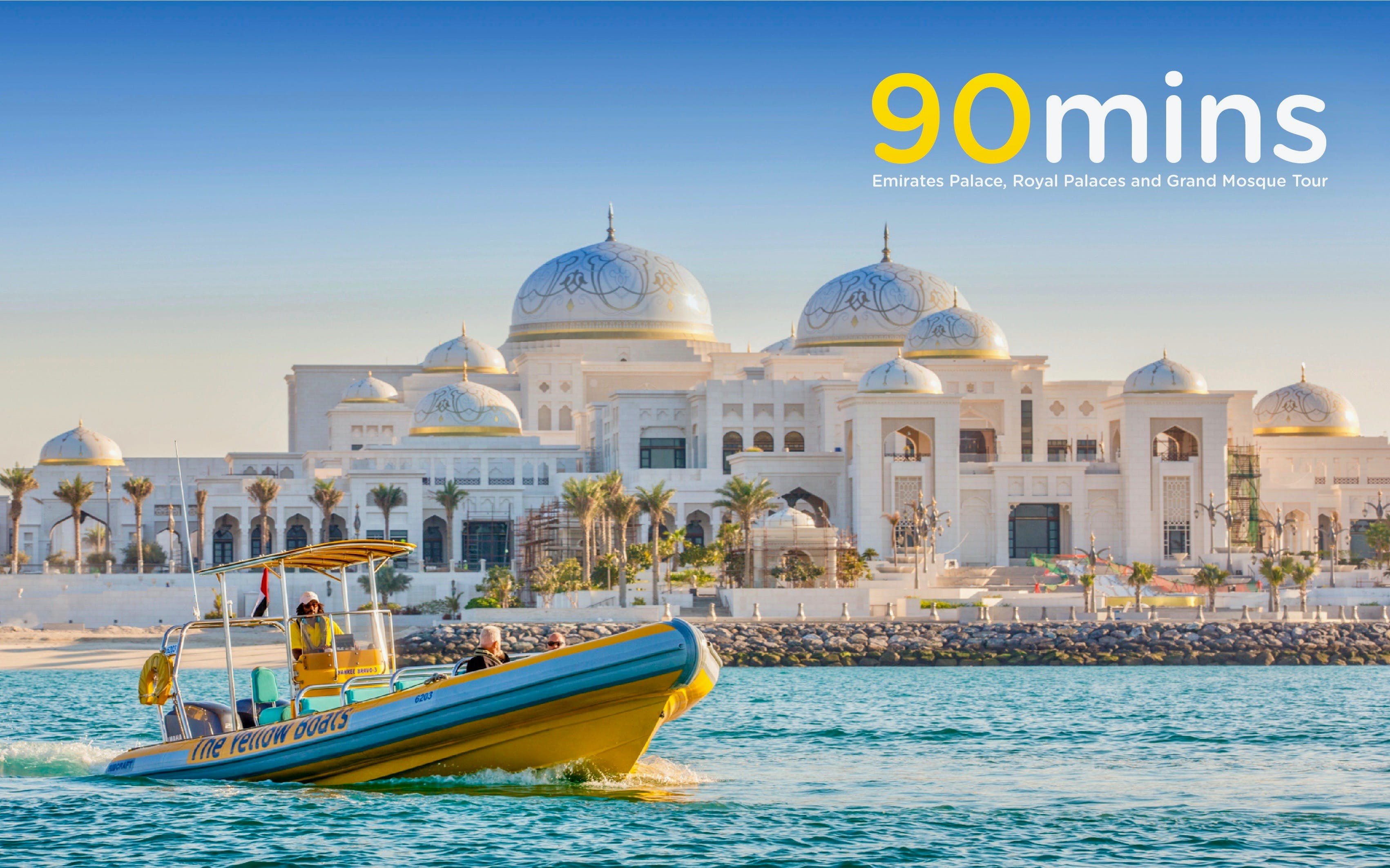 90 Minutes Sheikh Zayed Grand Mosque Tour by The Yellow Boats