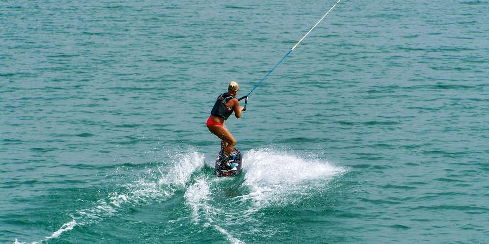 Water sports in Dubai - zup boarding