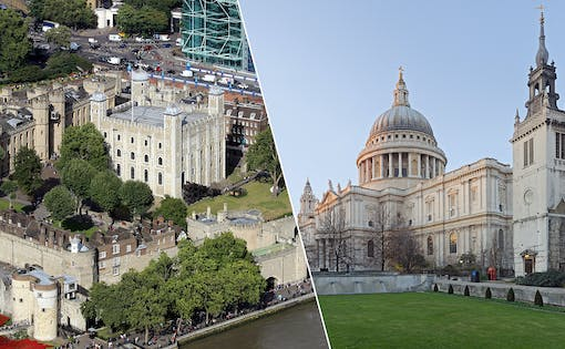 Tower of London + St Paul's Cathedral