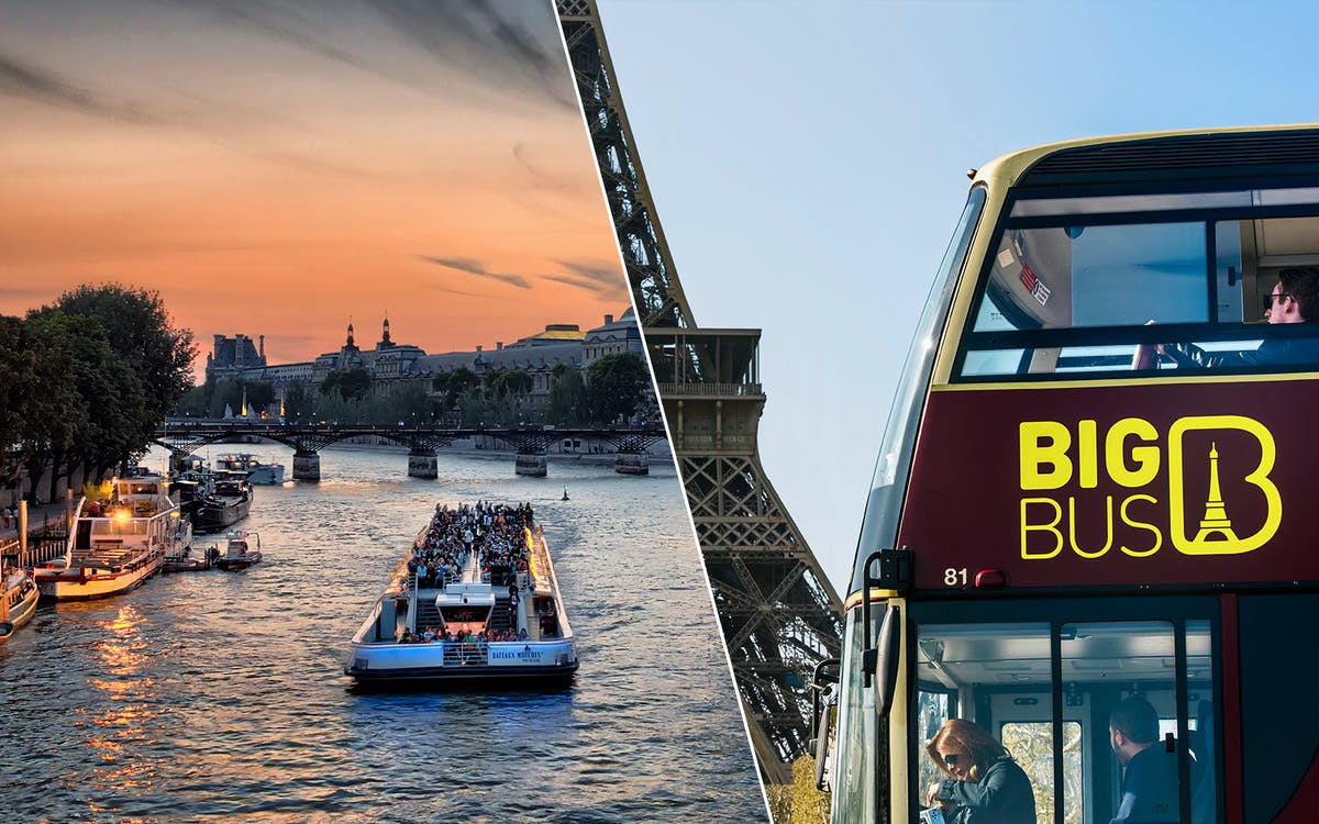 bigbus paris: 2 day hop-on-hop-off tour + bateaux parisien cruise-1