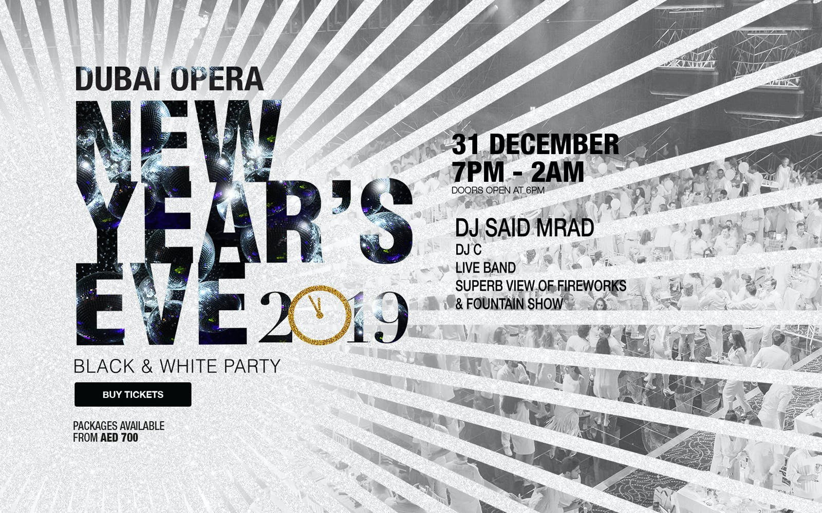 New Year's Eve Black & White Party