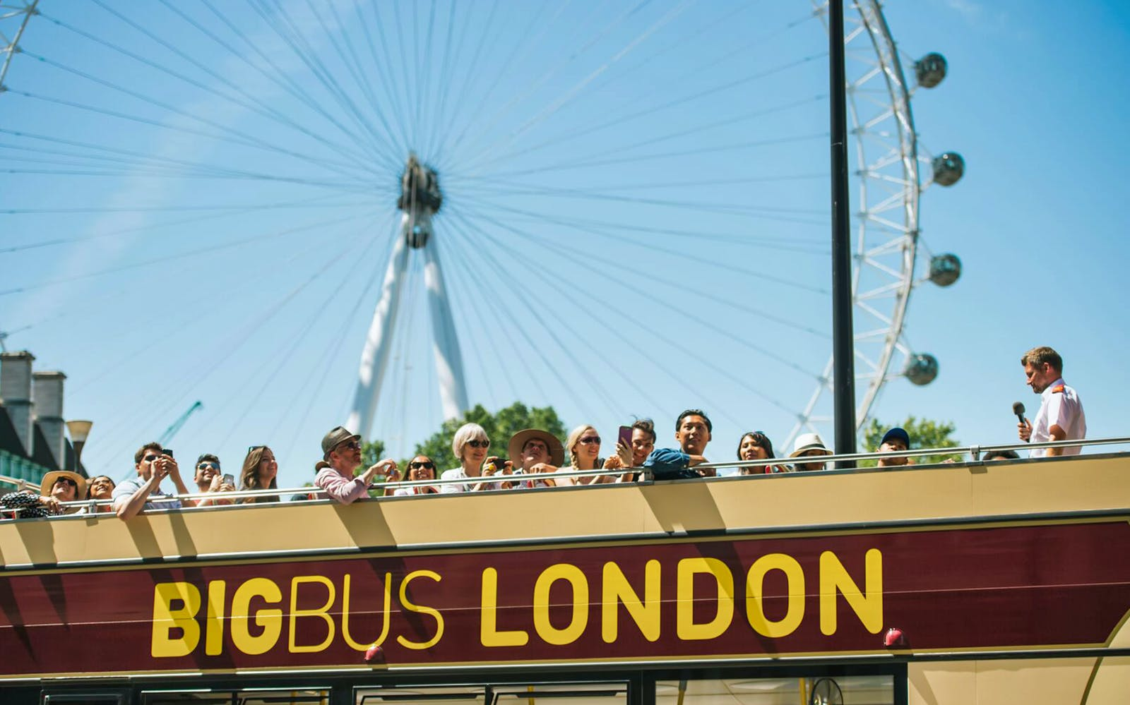 london eye fast track entry + hop-on hop-off classic ticket -1