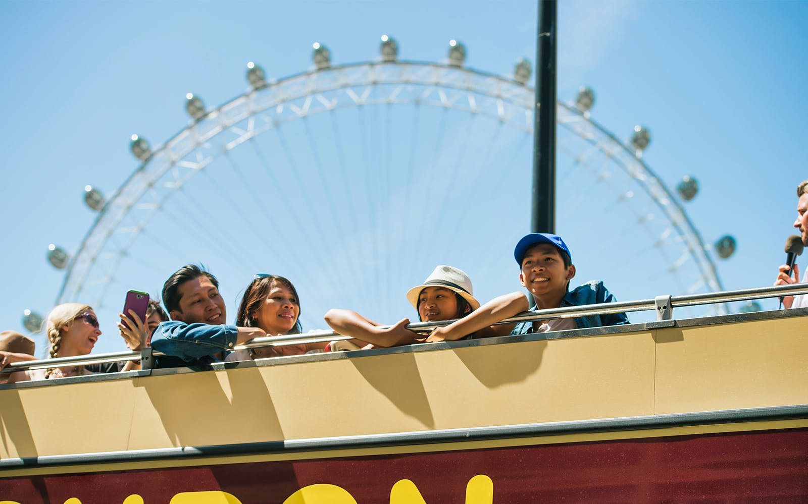london eye fast track entry + hop-on hop-off classic ticket -2