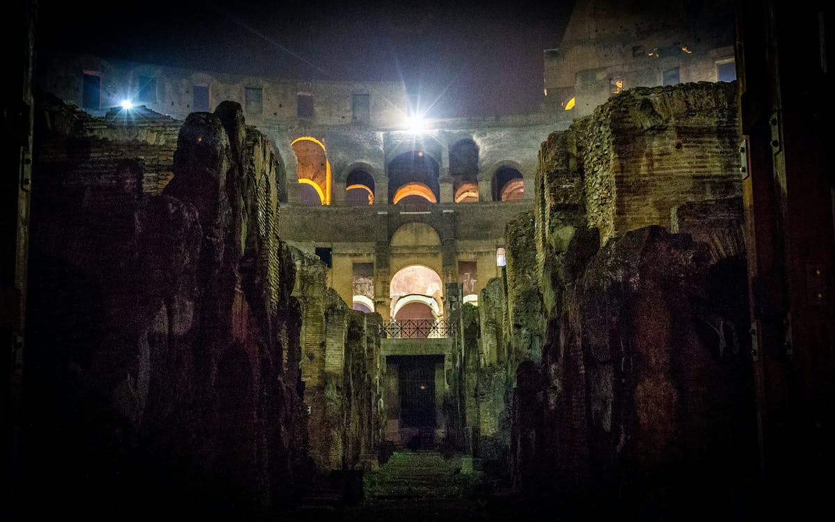 after-hours access: colosseum underground, arena floor & roman forum-10
