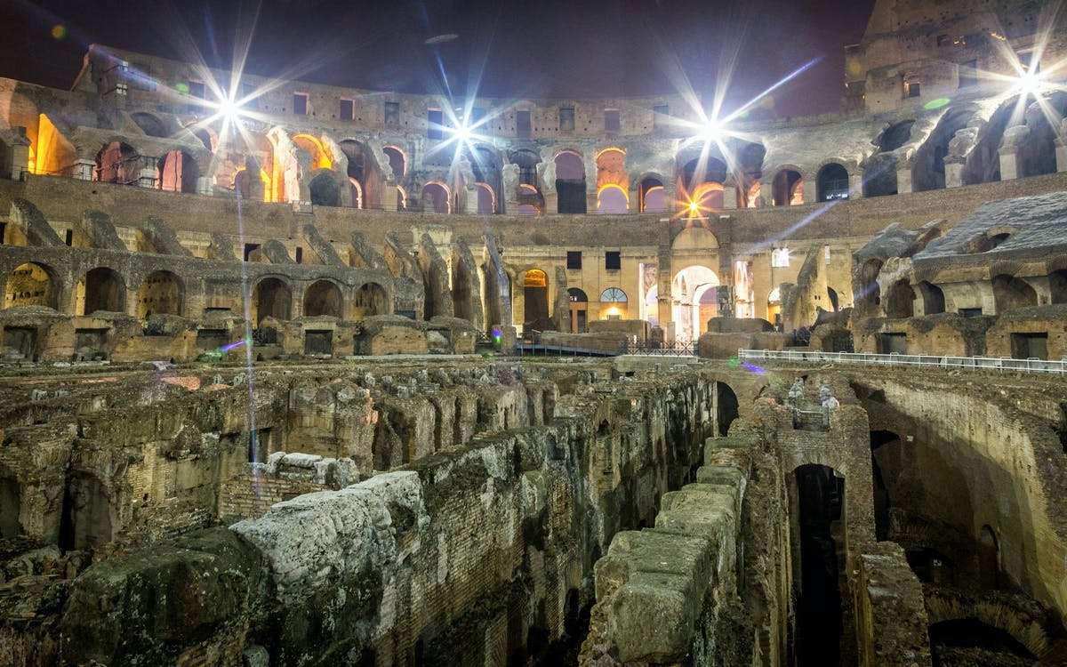 after-hours access: colosseum underground, arena floor & roman forum-6