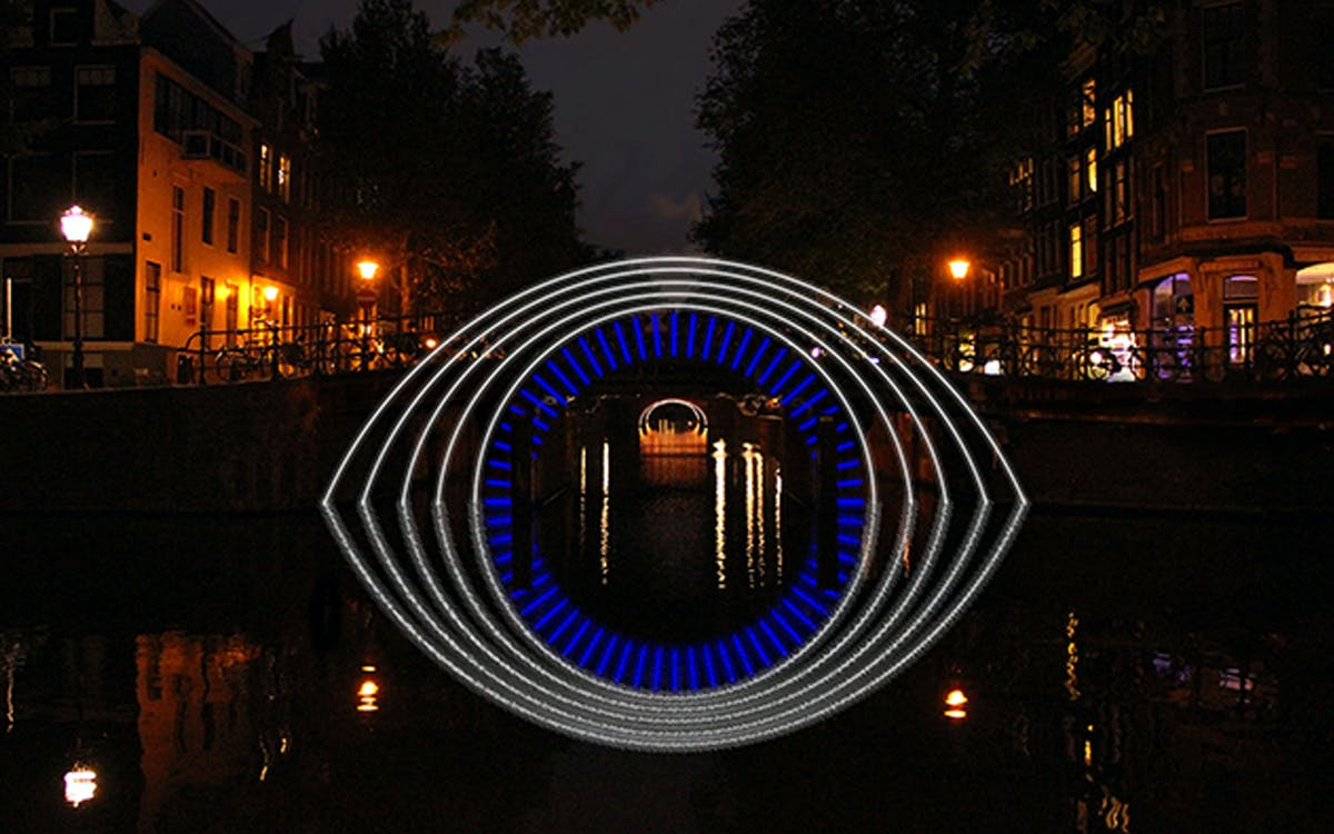 amsterdam light festival - water colors cruise -2