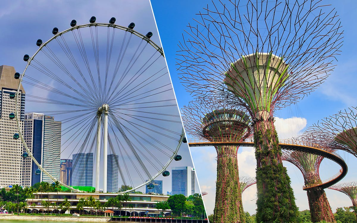 singapore flyer + gardens by the bay-1