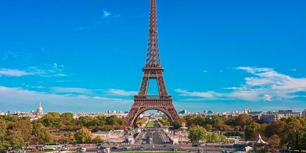 paris in january - eiffel tower