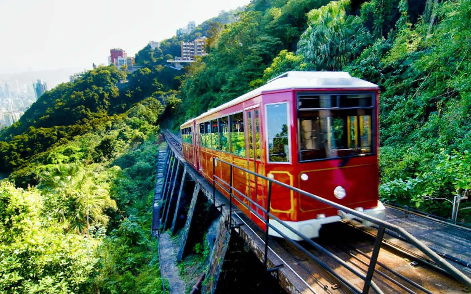 date in hong kong peak tram