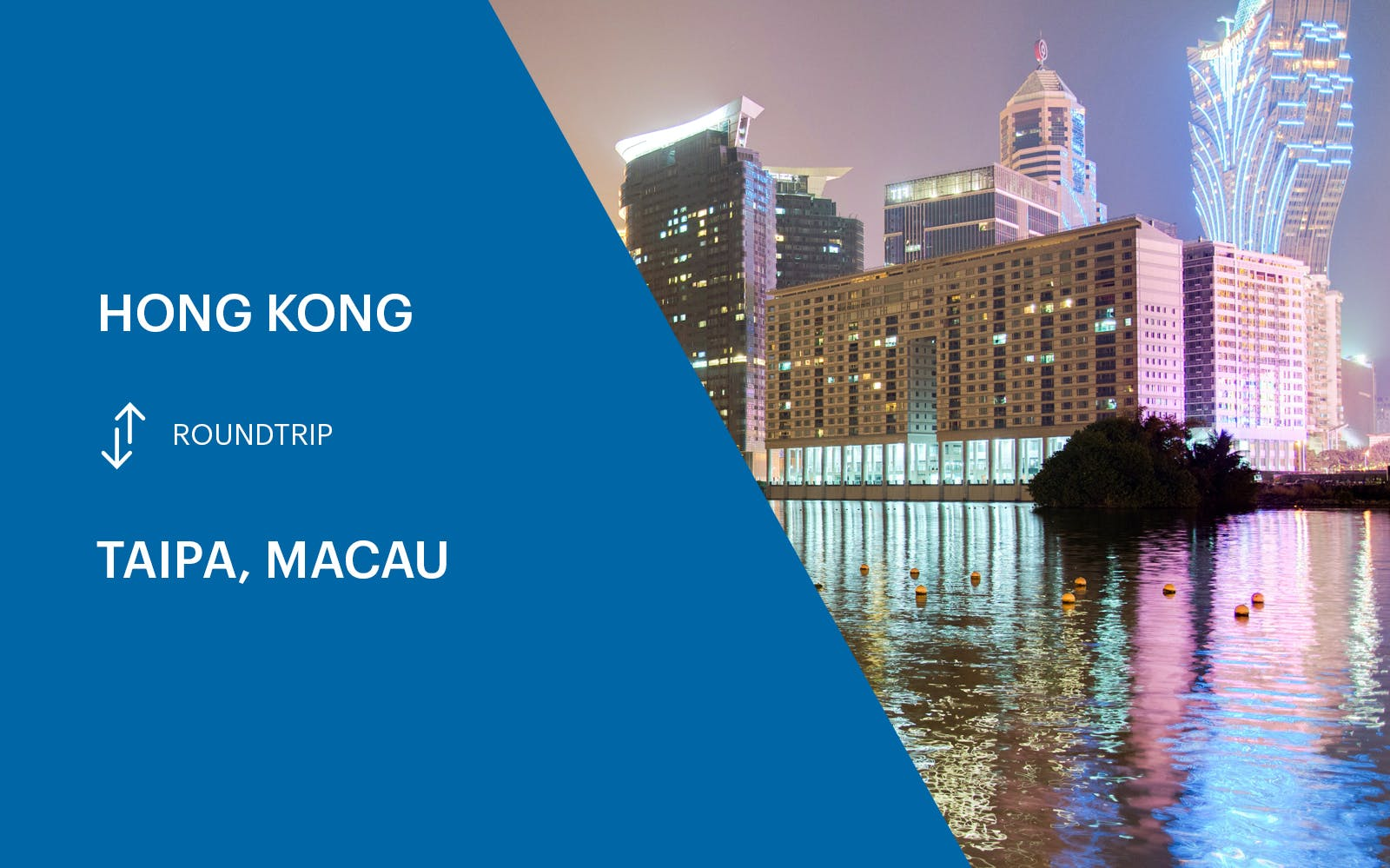 Cotai Ferry Transfers From Hong kong to Macau (Taipa) - Round Trip