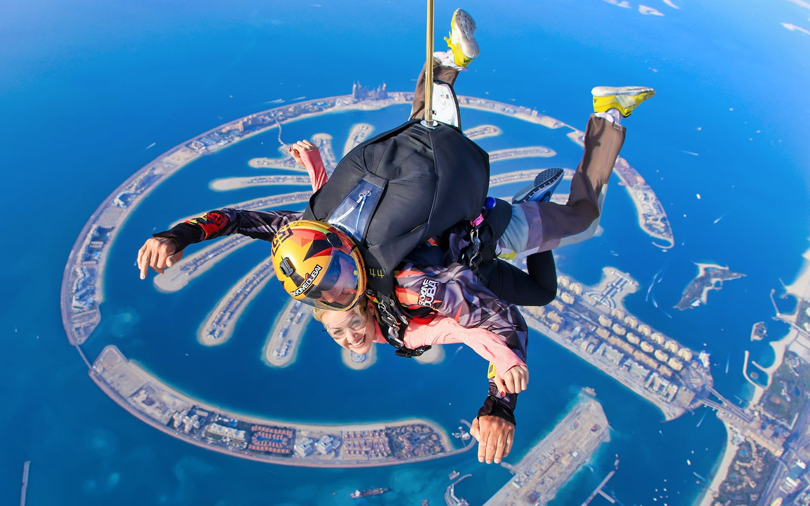 SkyDive Dubai: Tandem Skydiving at Palm Drop Zone + Free Burj Khalifa