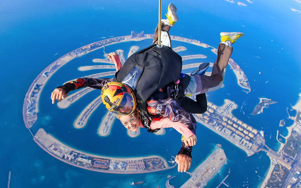 skydive dubai: tandem skydiving at palm drop zone-1