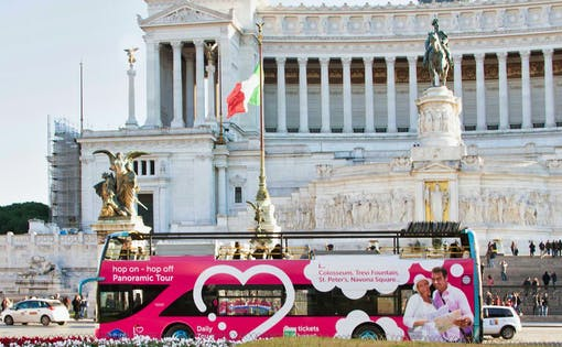I Love Rome: Vistite Guidée en Bus Hop-on Hop-off