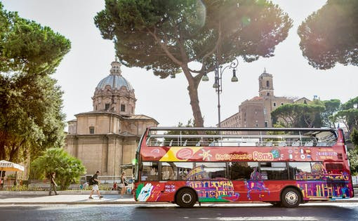 Tour en Bus Hop-on Hop-off + Billets Coupe-file pour le Vatican