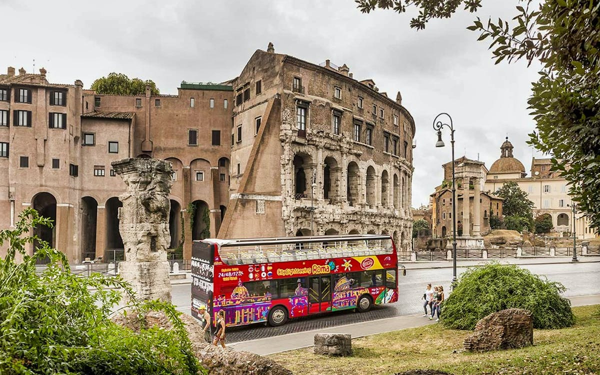 city sightseeing rome: hop-on-hop-off tour + colosseum skip the line tickets-1