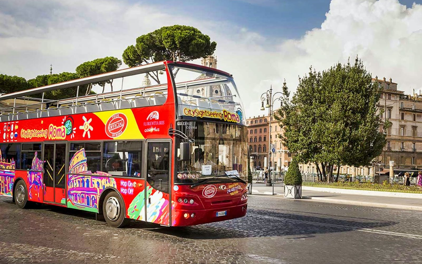 hop-on hop-off bus tour + skip the line colosseum tickets-3