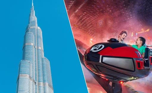 Burj Khalifa: At the Top (Level 124 & 125) + IMG World of Adventure