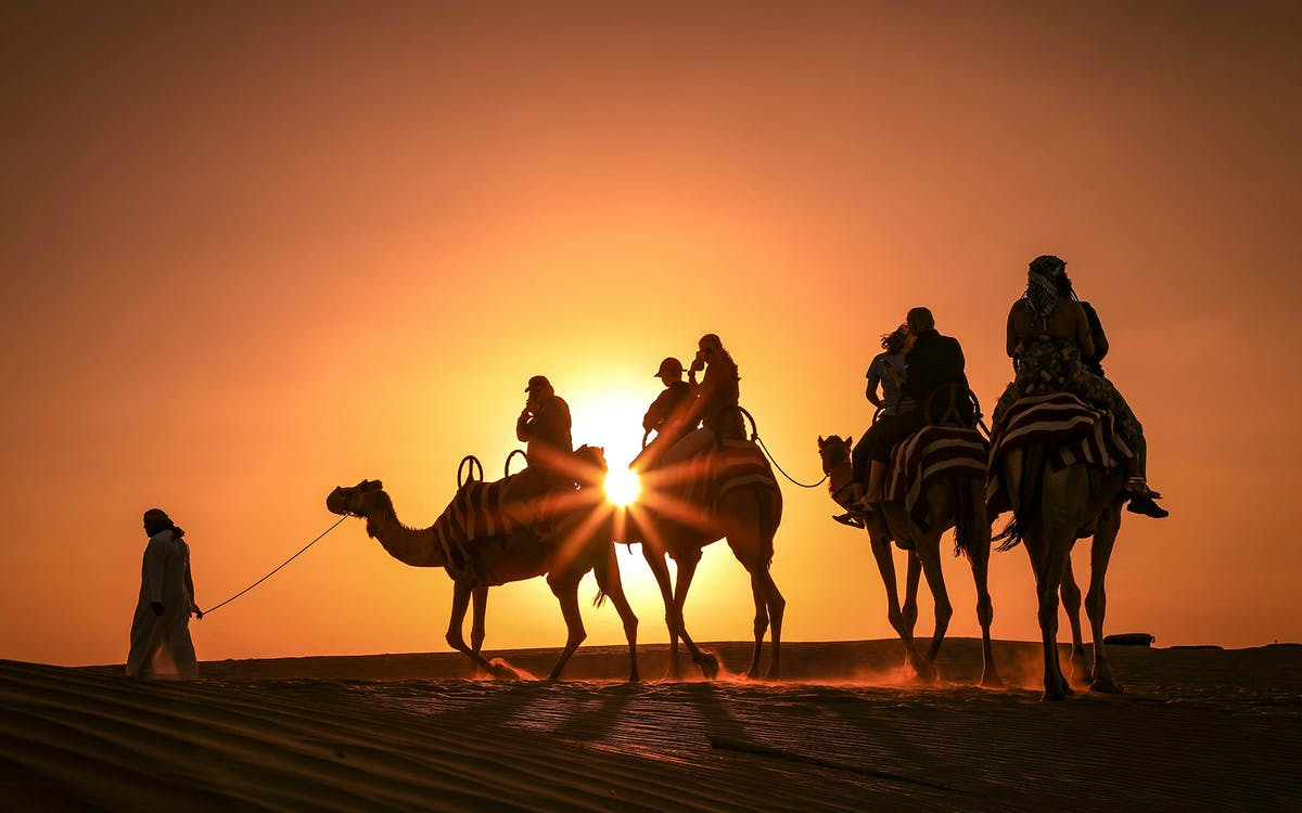premium sunset camel trek with shows & bbq dinner at al khayma-1