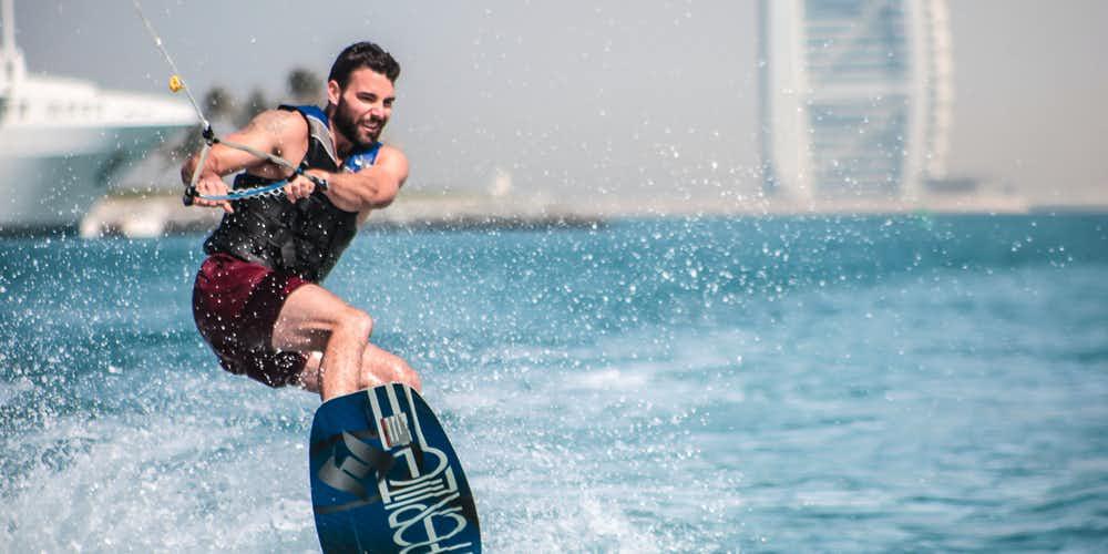 Water sports in Dubai - wake boarding
