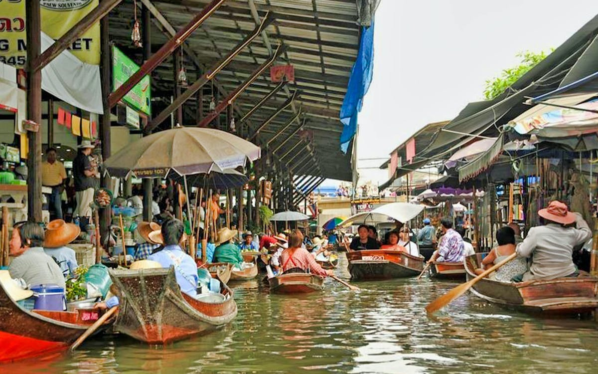 damnern saduak floating market halfday tour with transfers-1