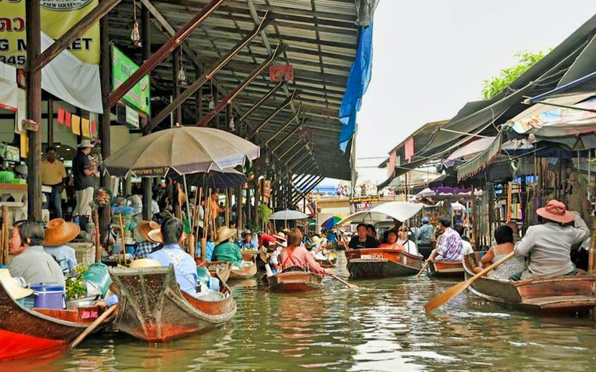 damnern saduak floating market and temple tours with transfers-1