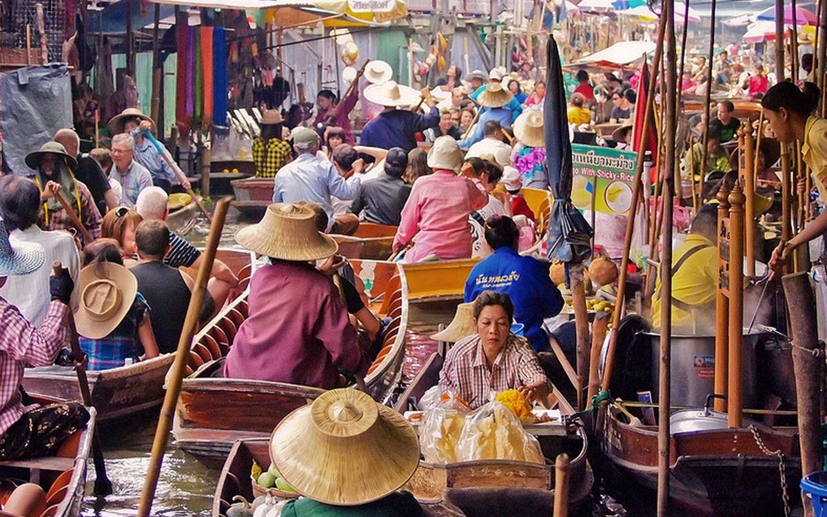 damnern saduak floating market with elephant rides/shows + hotel transfers-1