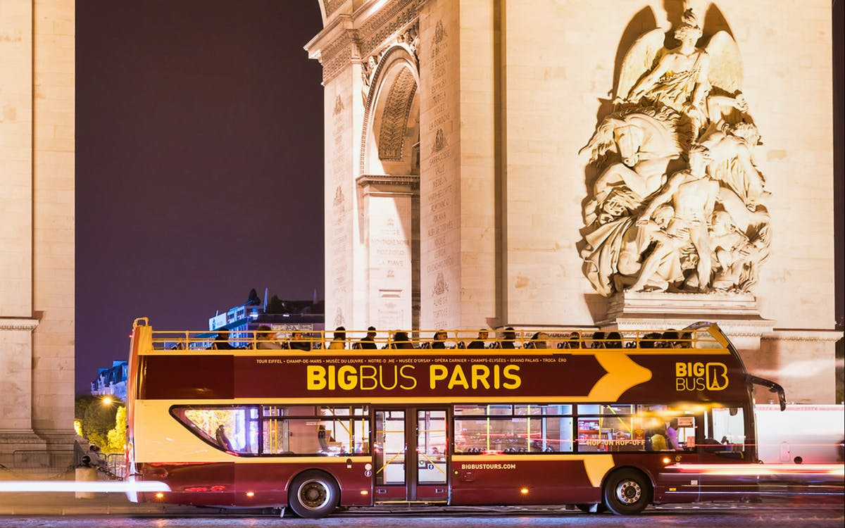 bigbus paris: panoramic night bus tour with audio guide-1