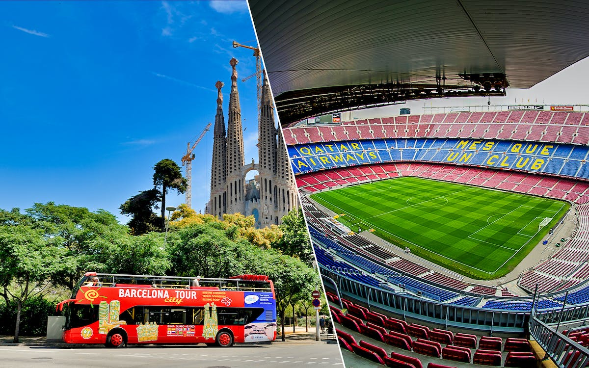 barcelona city tour: hop-on-hop-off tour + camp nou tickets-1