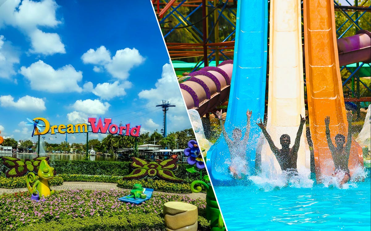 dream world + water fun combo with optional buffet lunch & snow town-1