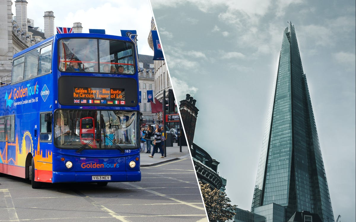golden tours 24hrs london hop on hop off & the view from the shard tickets -1