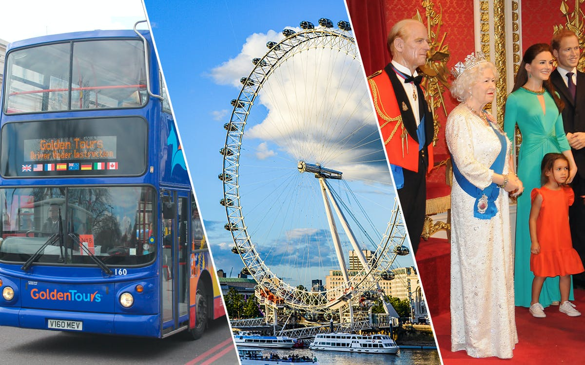 golden tours: 24hrs london hop on hop off + london eye & madame tussauds tickets-1
