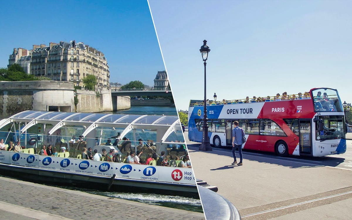 open tour paris: 2 or 3 day hop-on-hop-off bus + batobus cruise-1