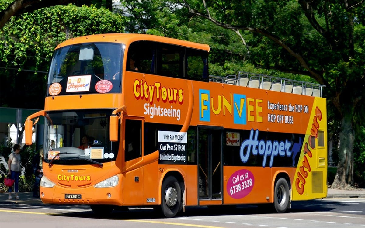 funvee singapore: 1 day hop-on-hop-off bus tour + universal studios-1