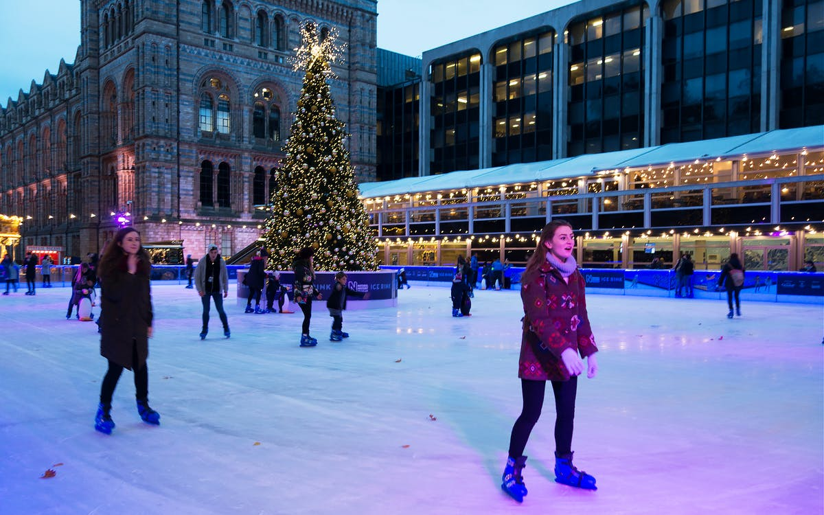 ice skating london: natural history museum ice rink-1