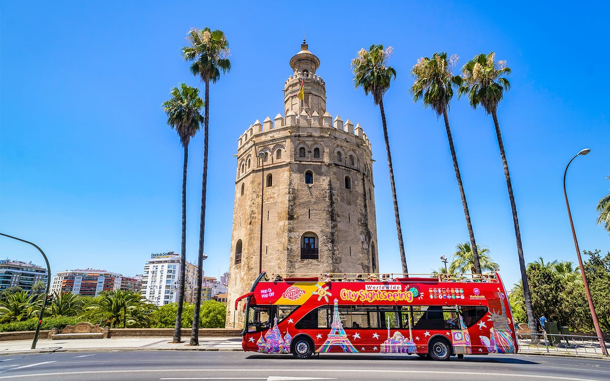 city sightseeing seville: 24/48hr hop-on-hop-off + museum entries -1