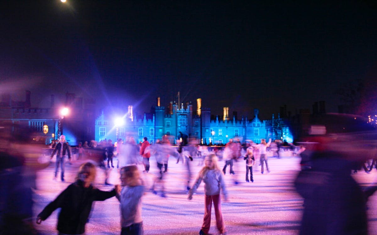 ice skating london: hampton court palace ice rink-1