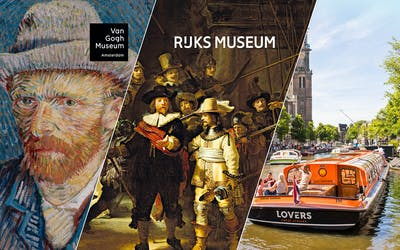 Van Gogh & Rijksmuseum Guided Tour with Canal Cruise