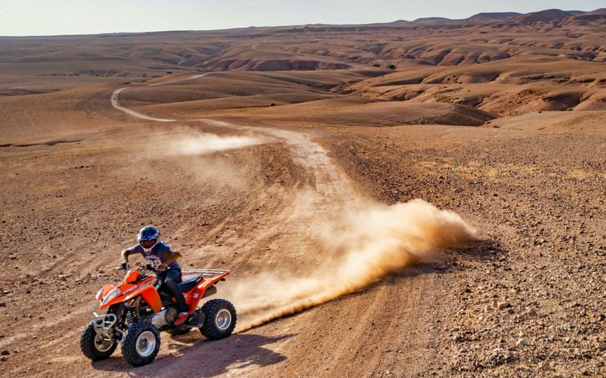 agafay desert, camel ride, quad bike & dinner from marrakech-0