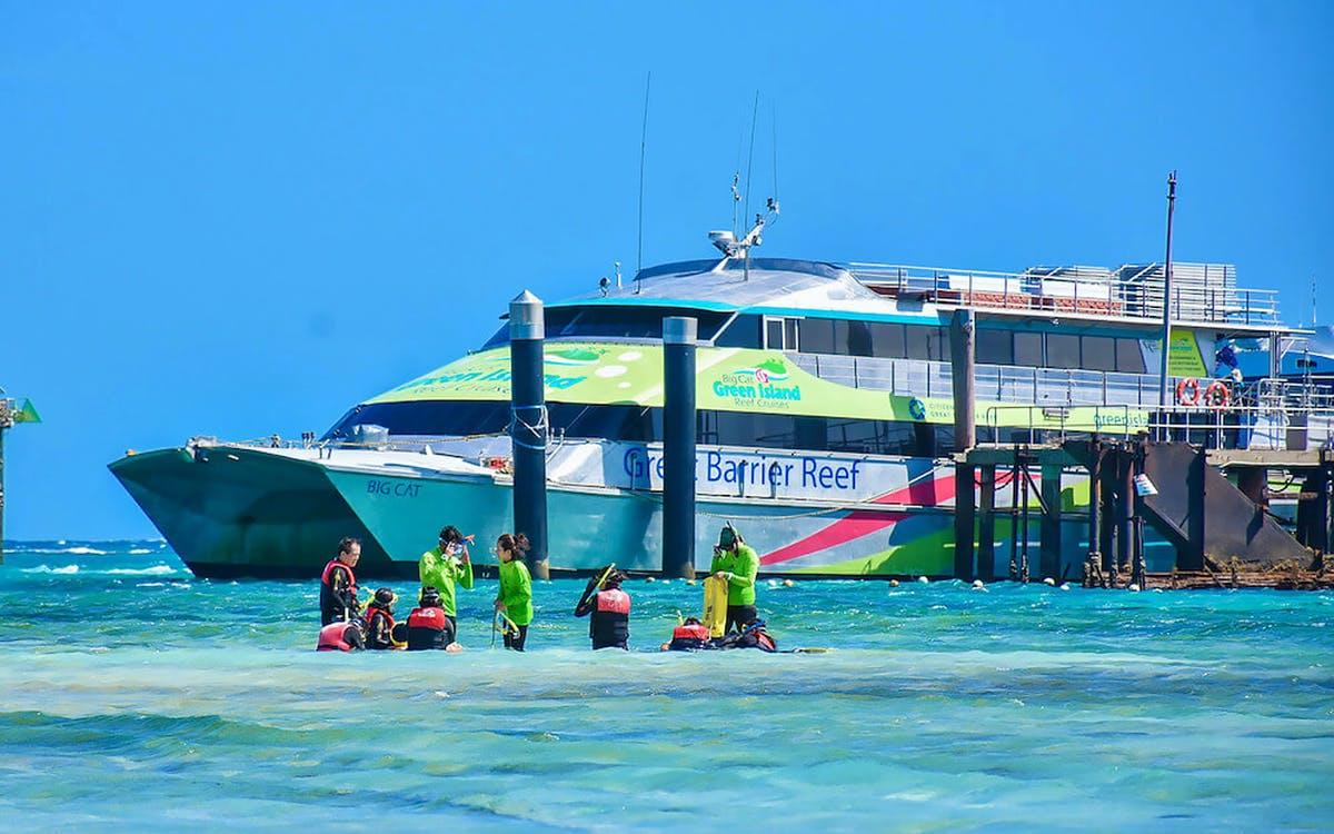 full day green island reef catamaran cruise-0