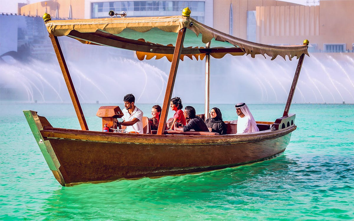 dubai fountain show & traditional abra lake ride-1