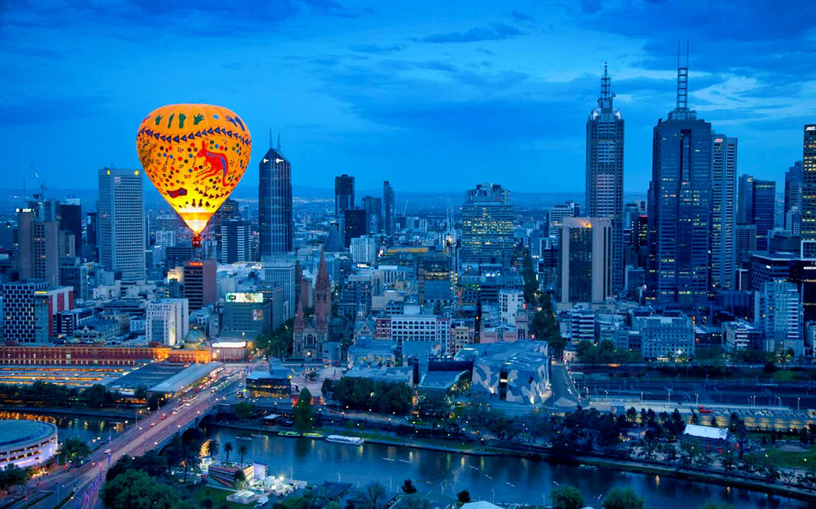 date in melbourne hot air balloon
